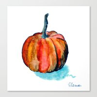 pumpkin Canvas Prints featuring Pumpkin by Elena Sandovici