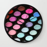 makeup Wall Clocks featuring Makeup by Ink and Paint Studio