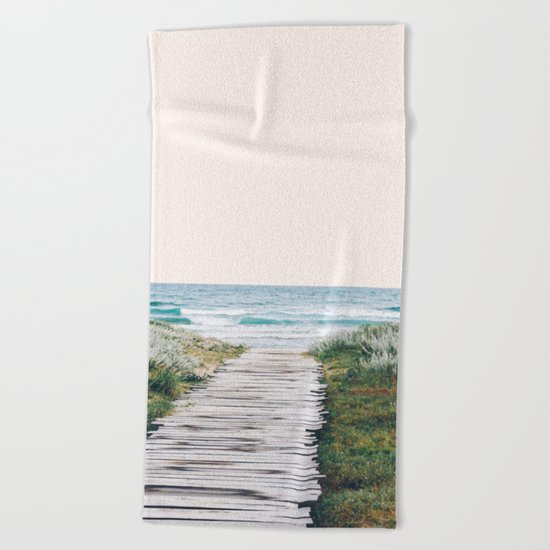 The Ocean is Calling & I Must Go #society6 #buyart Beach Towel