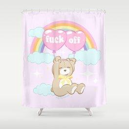 F*ck Off Teddy Bear Shower Curtain