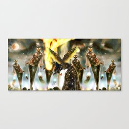 Gate-Keeper of the Mechanids [Digital Fantasy Figure Illustration] Canvas Print
