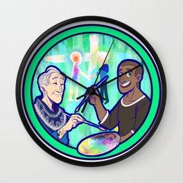 Human Robot Love - Carl & Markus Wall Clock