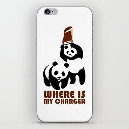 Panda Charger iPhone Skin