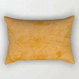 Dante Orange Stucco - Luxury - Rustic - Faux Finishes - Venetian Plaster Rectangular Pillow