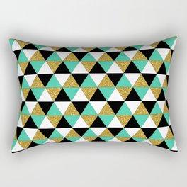 Aztec Triangle Pattern Rectangular Pillow