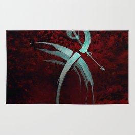 A Tarot of Ink Major Arcana XV The Fallen or The Devil Rug