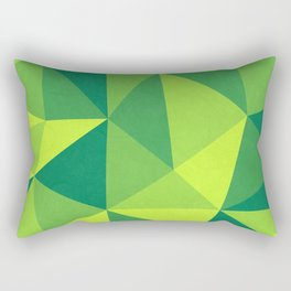 Abstract Green Geometric Pattern Rectangular Pillow