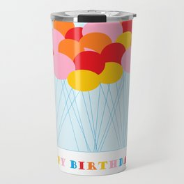 Happy Birthday Balloons Travel Mug