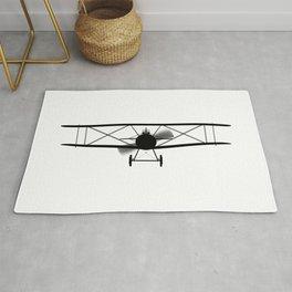 Biplane Silhouette Rug