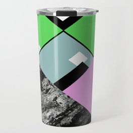 Conformity - Abstract, Textured, Geometric, Pop Art Travel Mug