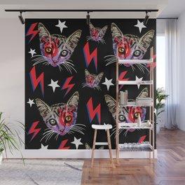 Glam Rock Cat Wall Mural
