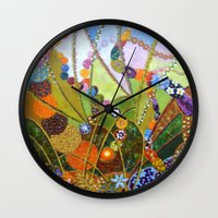 happiness Wall Clocks featuring Happiness by Vargamari
