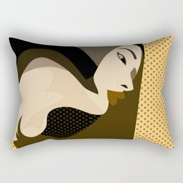 A red-haired woman4 Rectangular Pillow