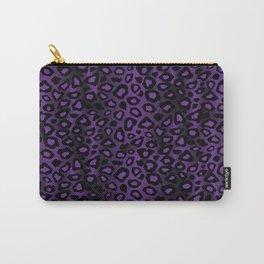 Deep Purple Leopard Skin Pattern Carry-All Pouch