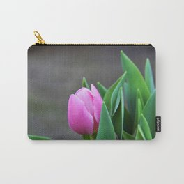 First Pink Tulip Carry-All Pouch