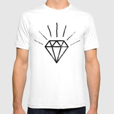 Royal Diamond Mens Fitted Tee White SMALL