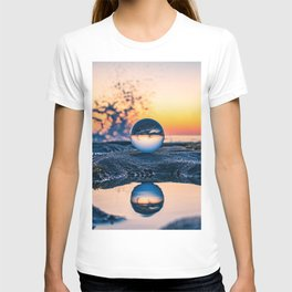 Lensball Water Reflections (blue and orange) T-shirt