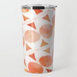 Geometric Shaded Tangerines Travel Mug