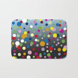 Multi-colored bubbles Bath Mat