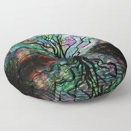 Van Goghs Aurora Borealis Reflection Floor Pillow