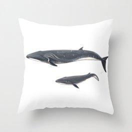 Sei whale (Balaenoptera borealis) Throw Pillow