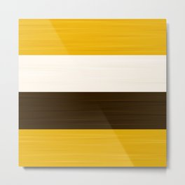 Brush Stroke Stripes: S'more Metal Print