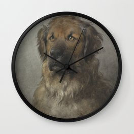 Otto Eerelman - Head of a Leonberger (1880-1892) Wall Clock