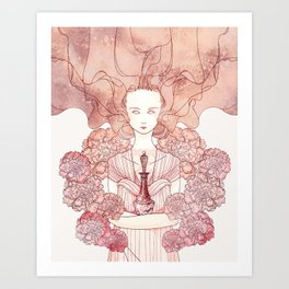 The Coral Witch Art Print