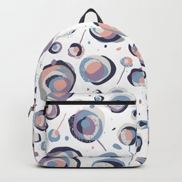 Abstract flowers pattern Backpack
