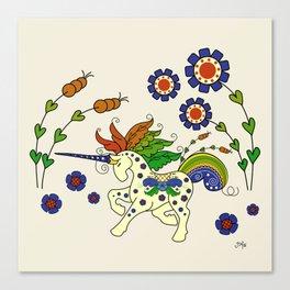 Swedish Unicorn Canvas Print