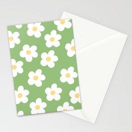 Retro 60's Flower Power Print 2 Stationery Cards