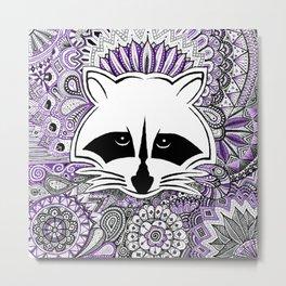 Indi Raccoon Metal Print