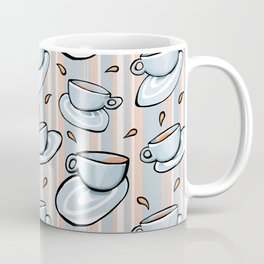 Cups Medley Blue Stripes Coffee Mug