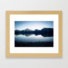 Mountains Over Jackson Lake Framed Art Print
