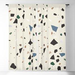 Bluestone Eden Green Black Terrazzo #1 #decor #art #society6 Blackout Curtain