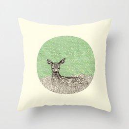 A deer Throw Pillow