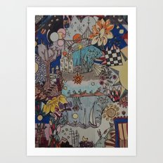 Light doodles Art Print