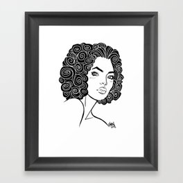 Curly Solonge Framed Art Print