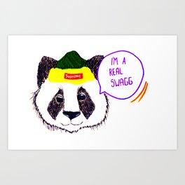 Panda rules Art Print