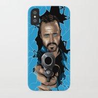jesse pinkman iPhone & iPod Cases featuring Jesse Pinkman -Blue by Denis O'Sullivan