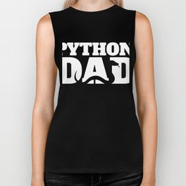 Python Dad | Snake Reptile Lover Men Biker Tank