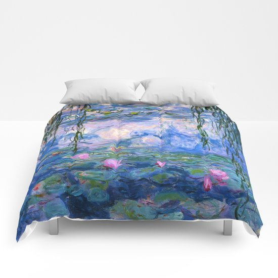 Water Lilies Monet Comforters By Purevintagelove Society6