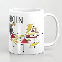 skyrim Mugs featuring Skyrim: The Dovahkiin - RED (Skyrim) by E_Nicholson