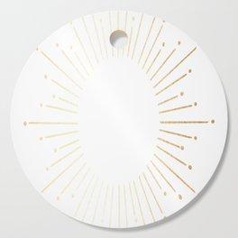 Sunburst Gold Copper Bronze on White Cutting Board