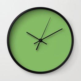 Bright Dollar Bill Green Color Wall Clock