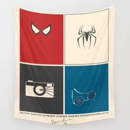 With Great Power Comes Great Responsibility Wall Tapestry