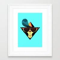 ape Framed Art Prints featuring Ape by Mikhail Kalinin