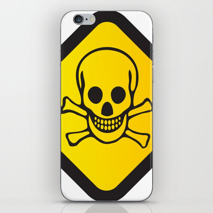 toxic sign png iphone skin by kostas lio society6