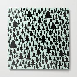 Mint x Pine Forest Metal Print