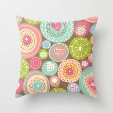 Fun Circles Throw Pillow